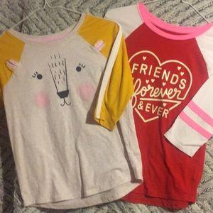 2 😀3/4 length shirts tee's.